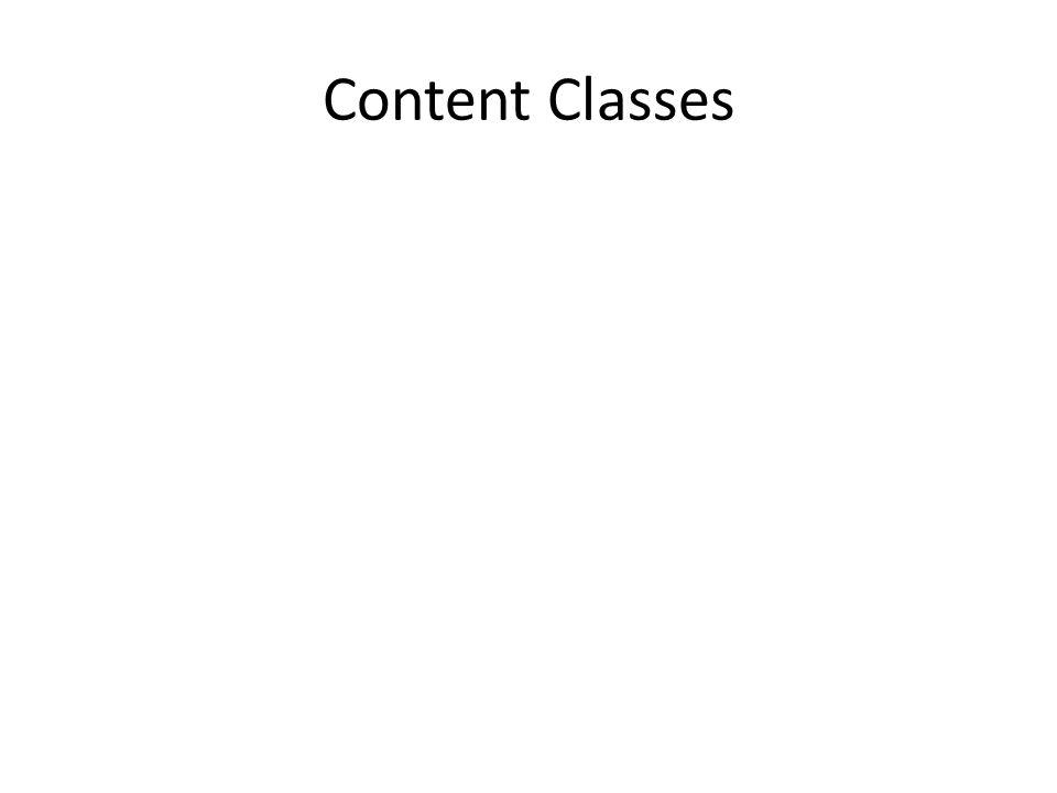 Content Classes