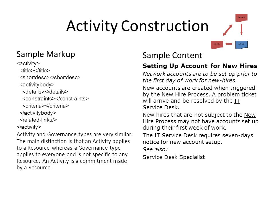 Activity Construction