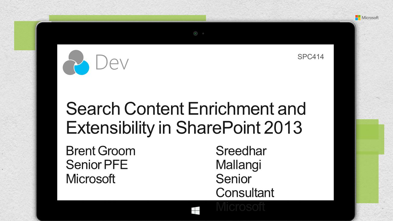 Search Content Enrichment and Extensibility in SharePoint 2013
