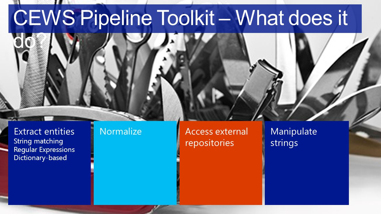 CEWS Pipeline Toolkit – What does it do