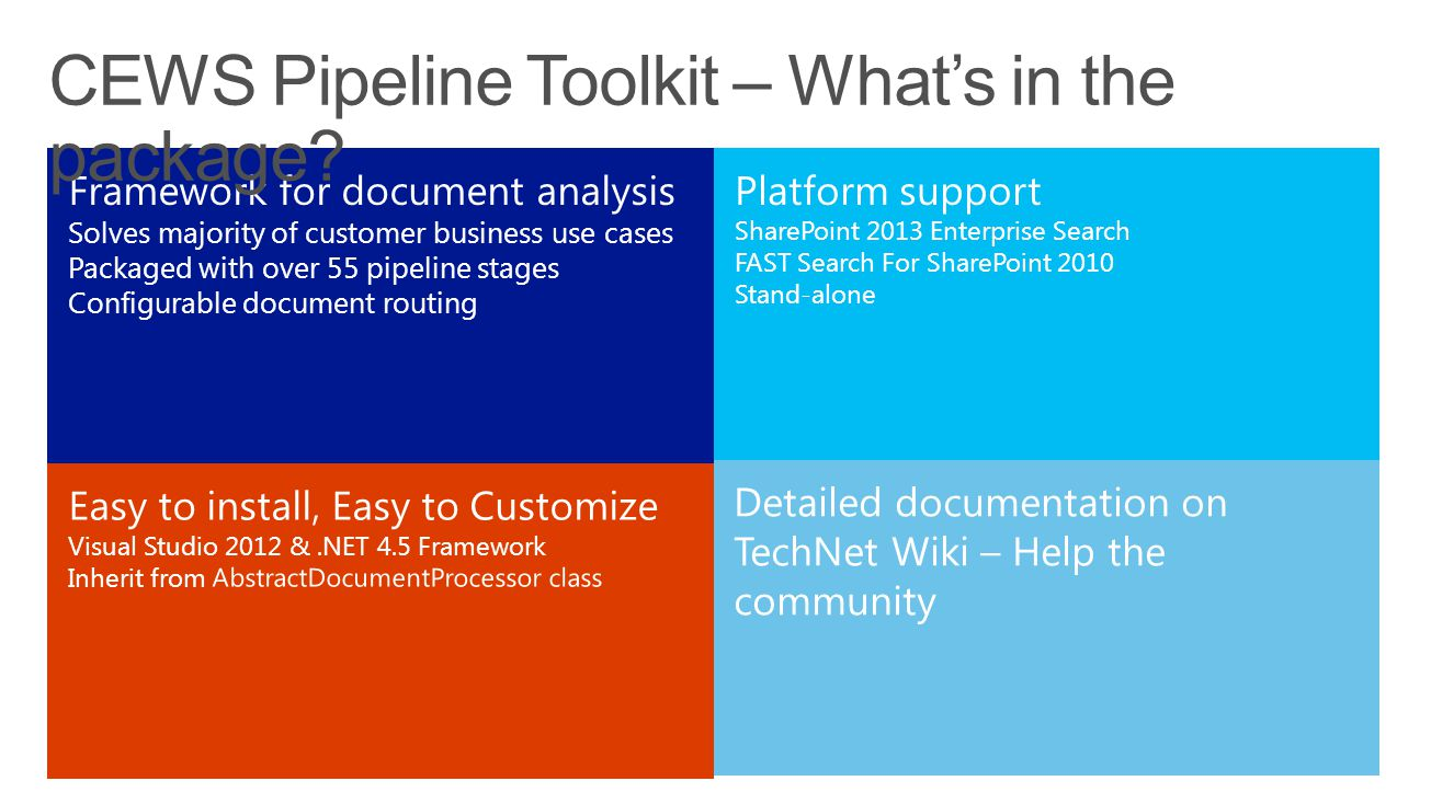 CEWS Pipeline Toolkit – What's in the package