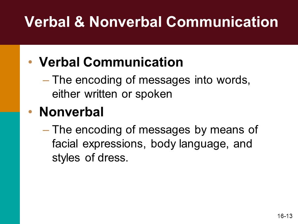 Verbal & Nonverbal Communication