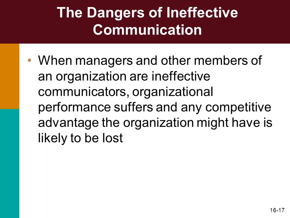 The Dangers of Ineffective Communication