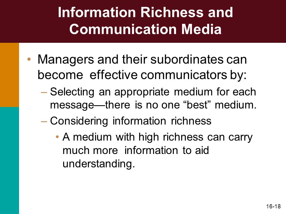 Information Richness and Communication Media