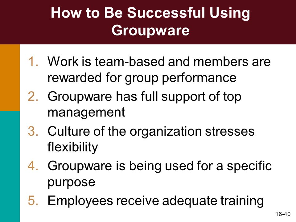 How to Be Successful Using Groupware