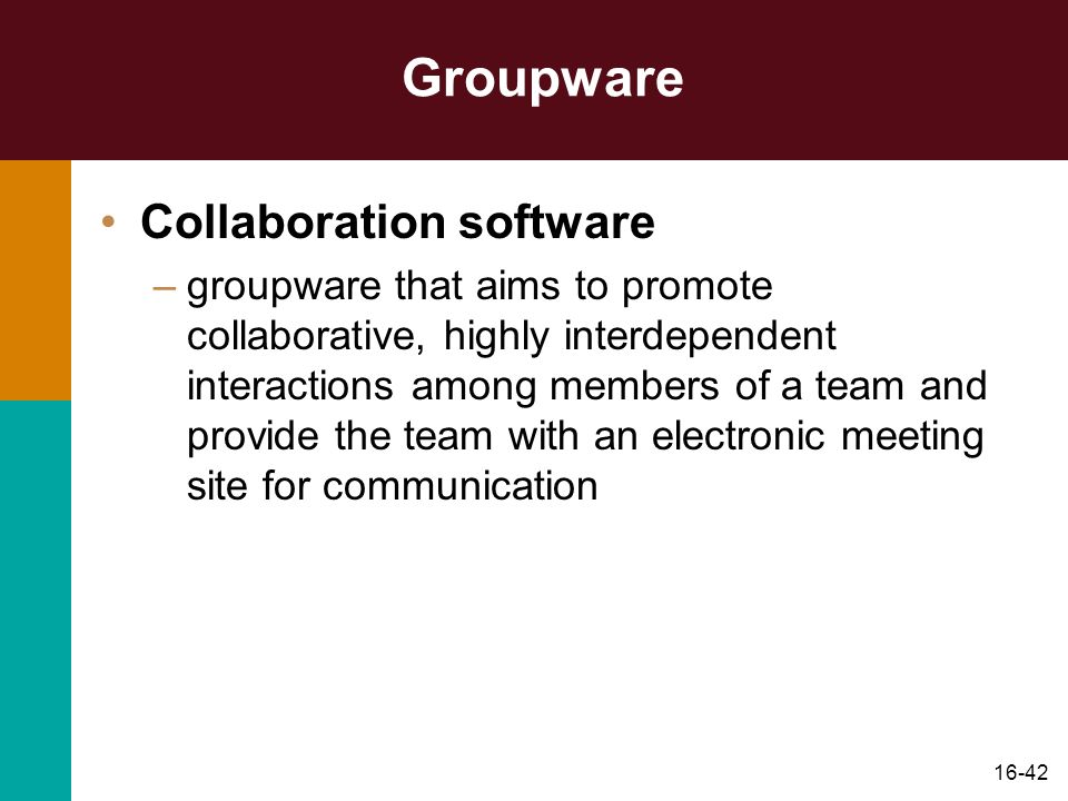 Groupware Collaboration software