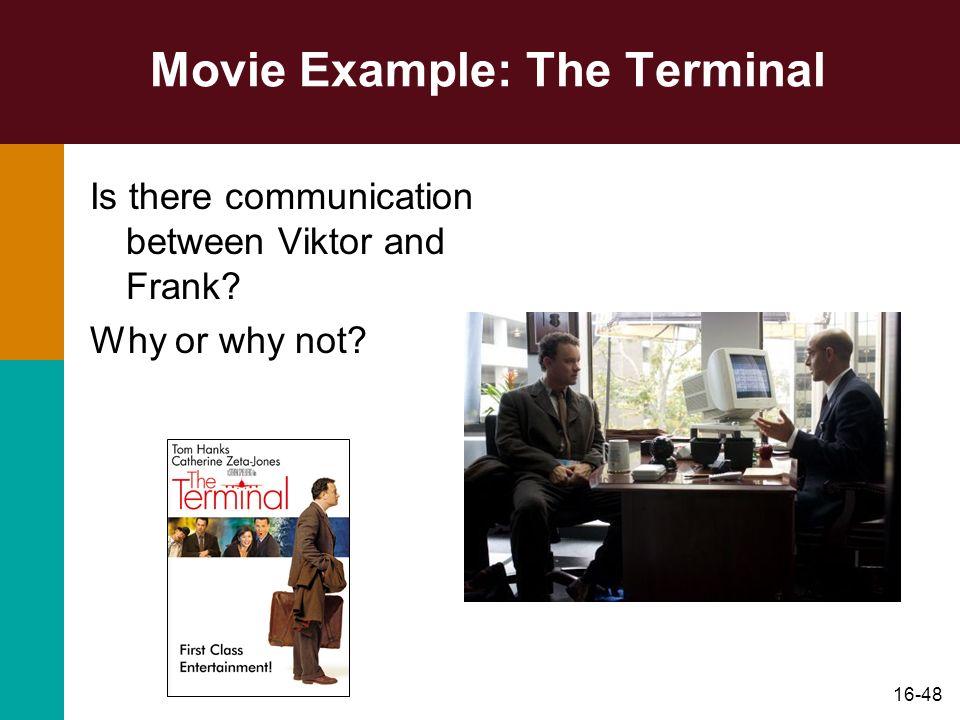 Movie Example: The Terminal