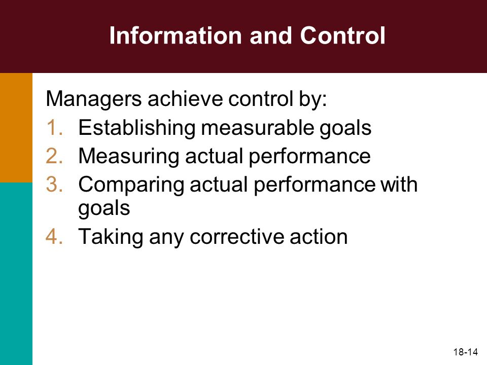 Information and Control