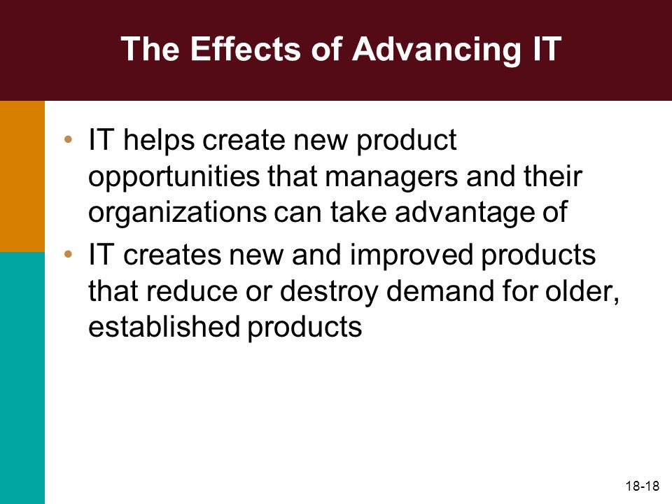 The Effects of Advancing IT