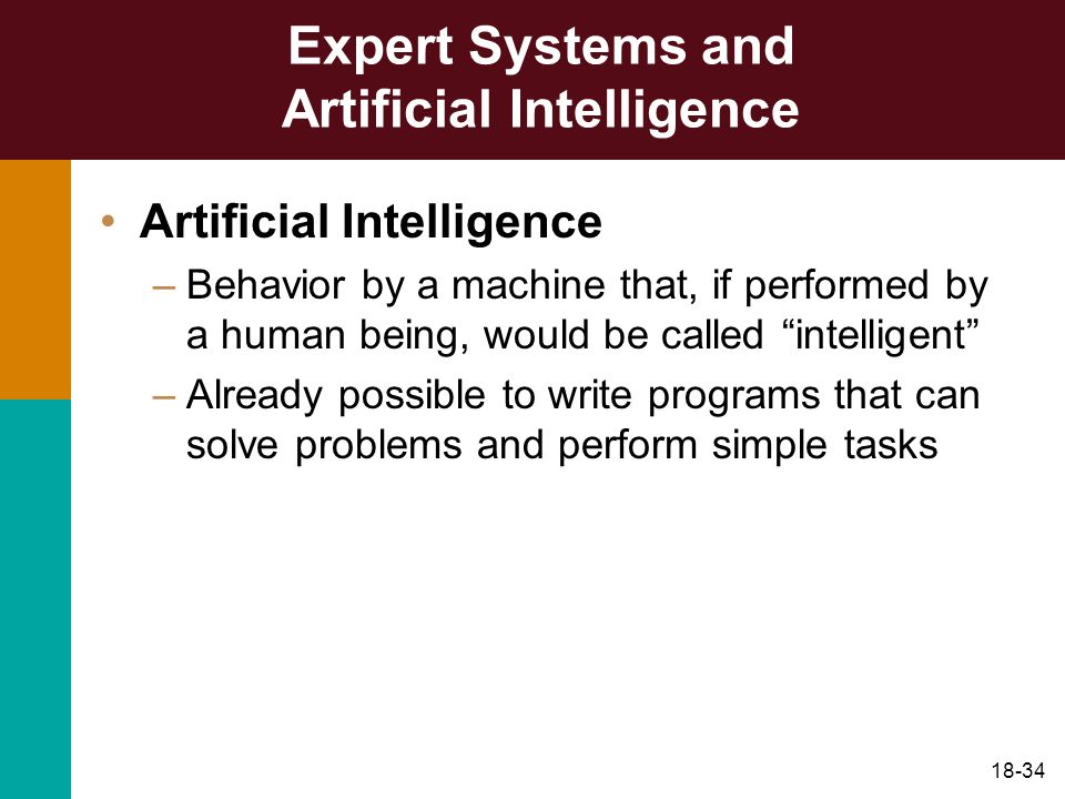 Expert Systems and Artificial Intelligence