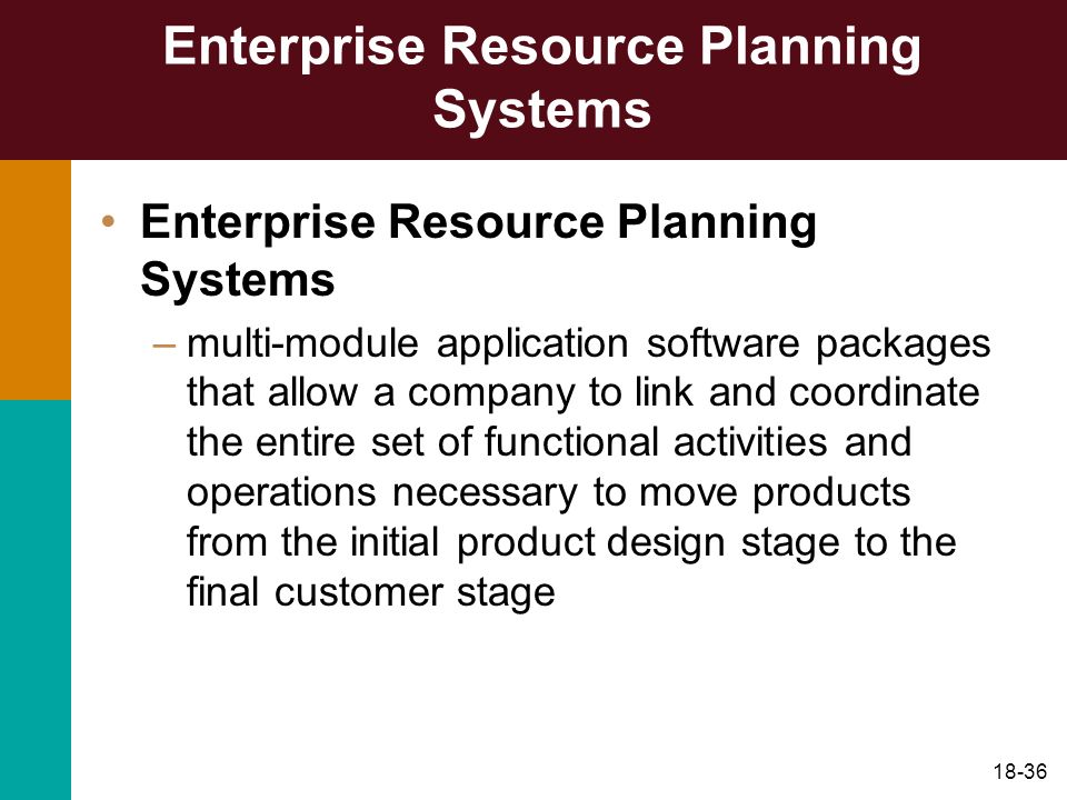 Enterprise Resource Planning Systems