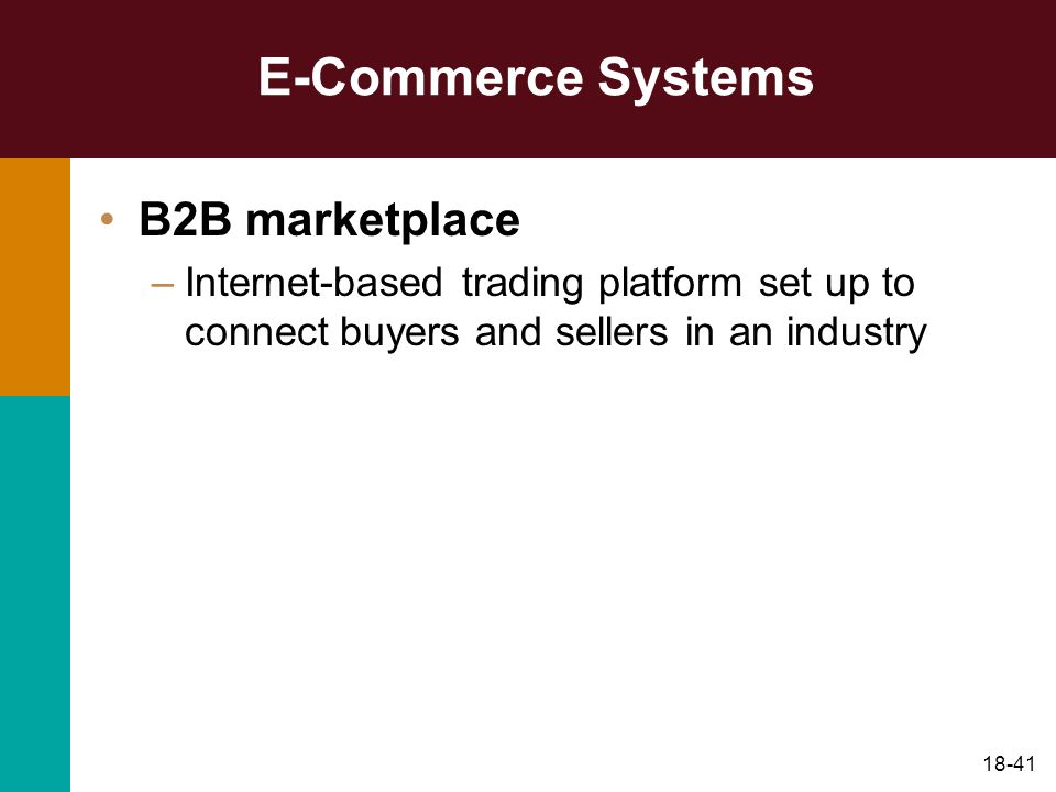E-Commerce Systems B2B marketplace