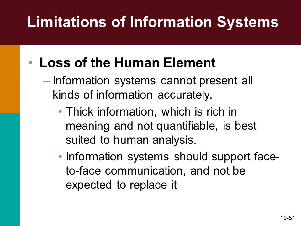 Limitations of Information Systems