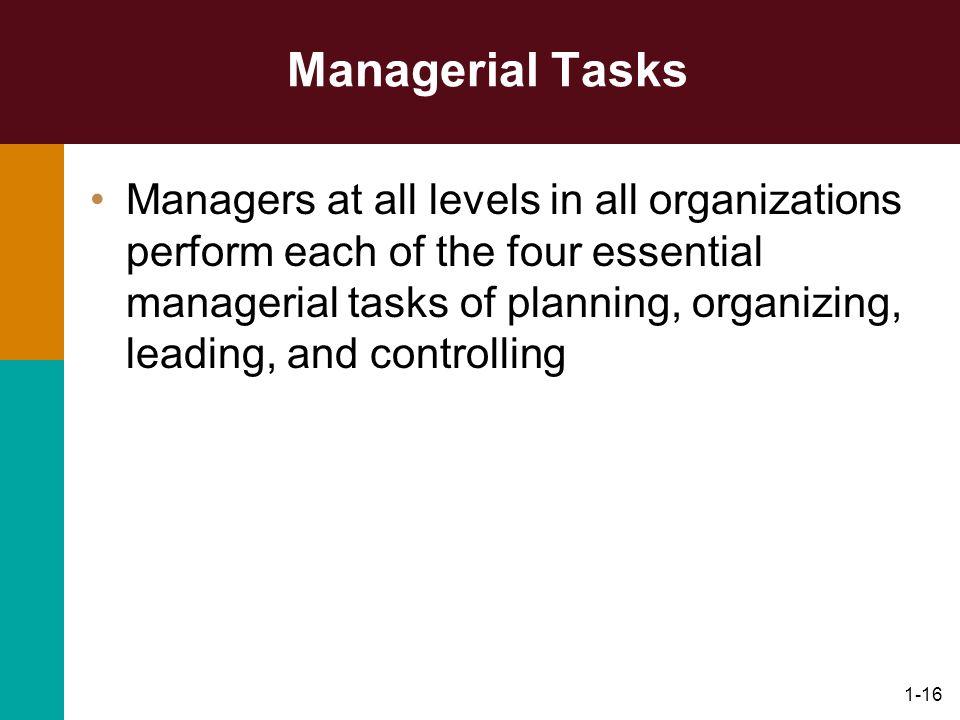 Managerial Tasks