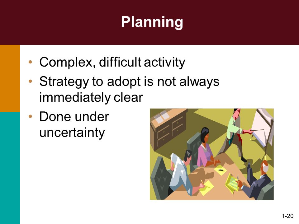 Planning Complex, difficult activity