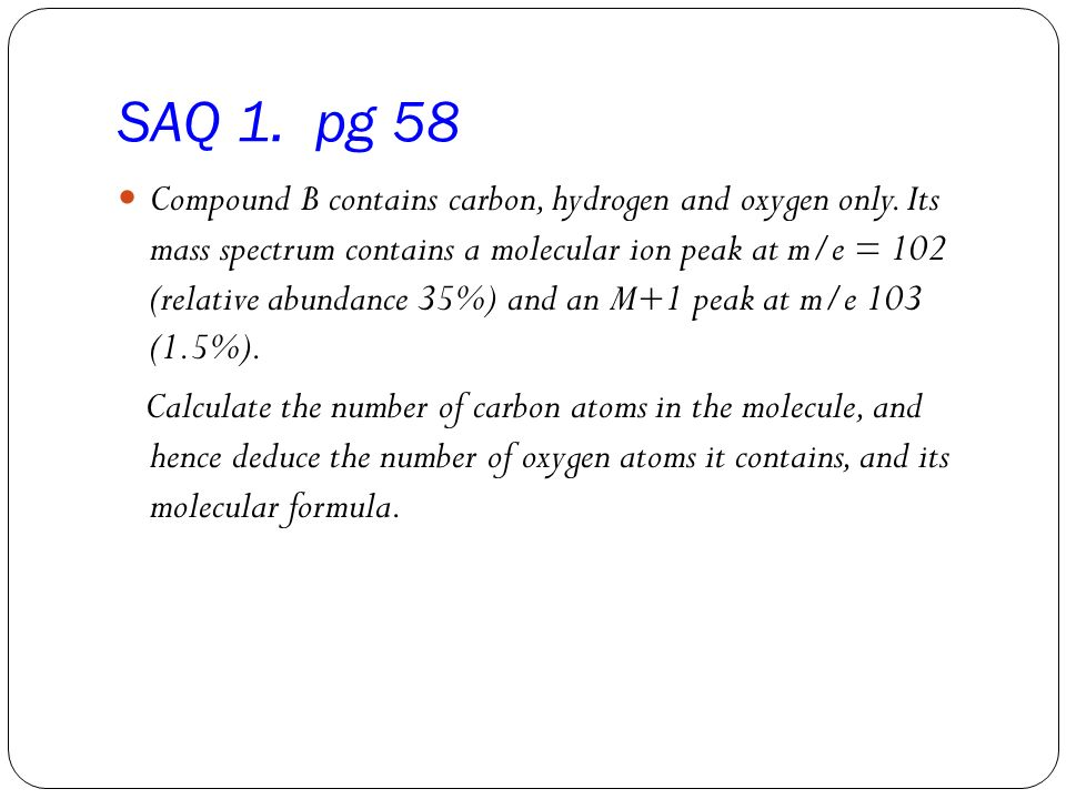 SAQ 1. pg 58