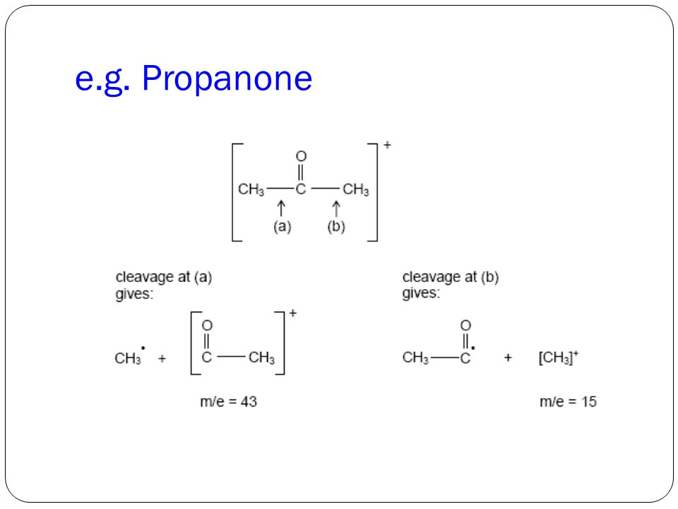 e.g. Propanone