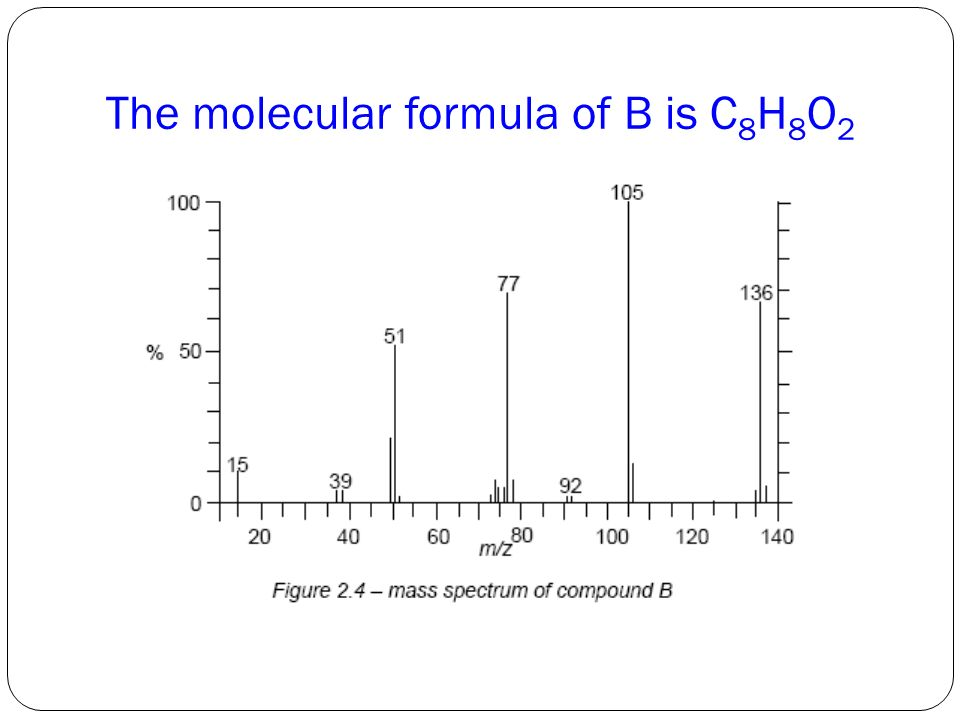 The molecular formula of B is C8H8O2
