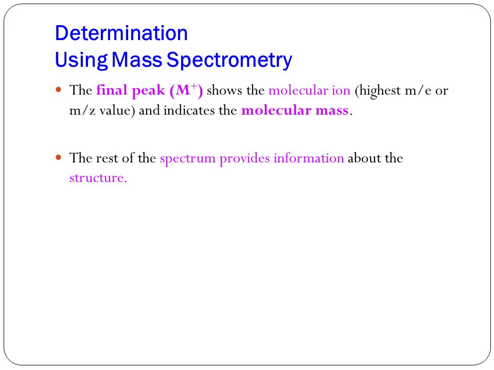 Determination Using Mass Spectrometry