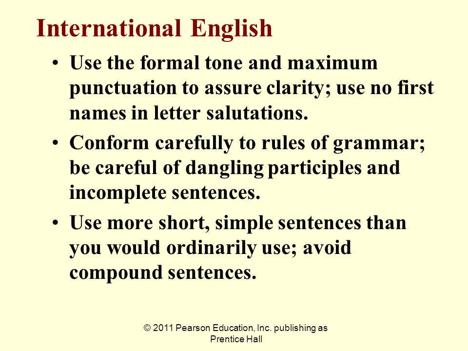 International English