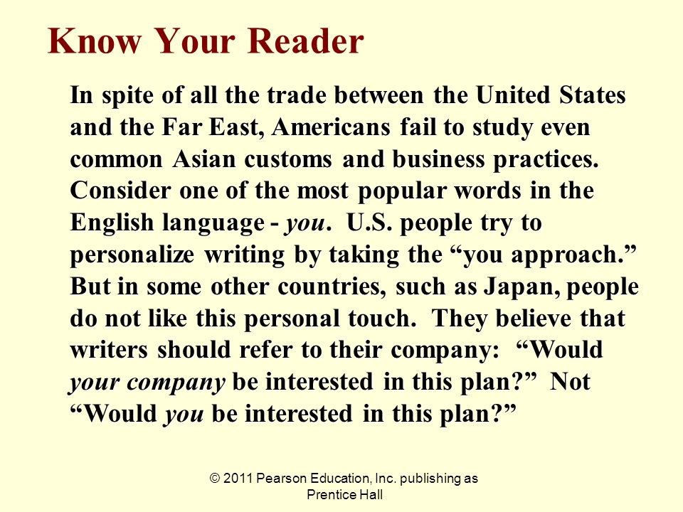 © 2011 Pearson Education, Inc. publishing as Prentice Hall