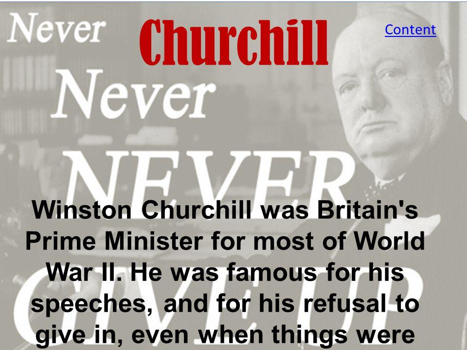 Churchill Content.