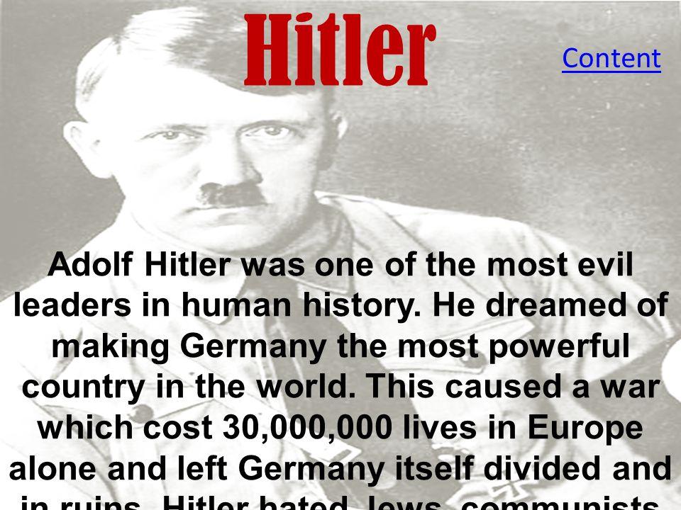 Hitler Content.