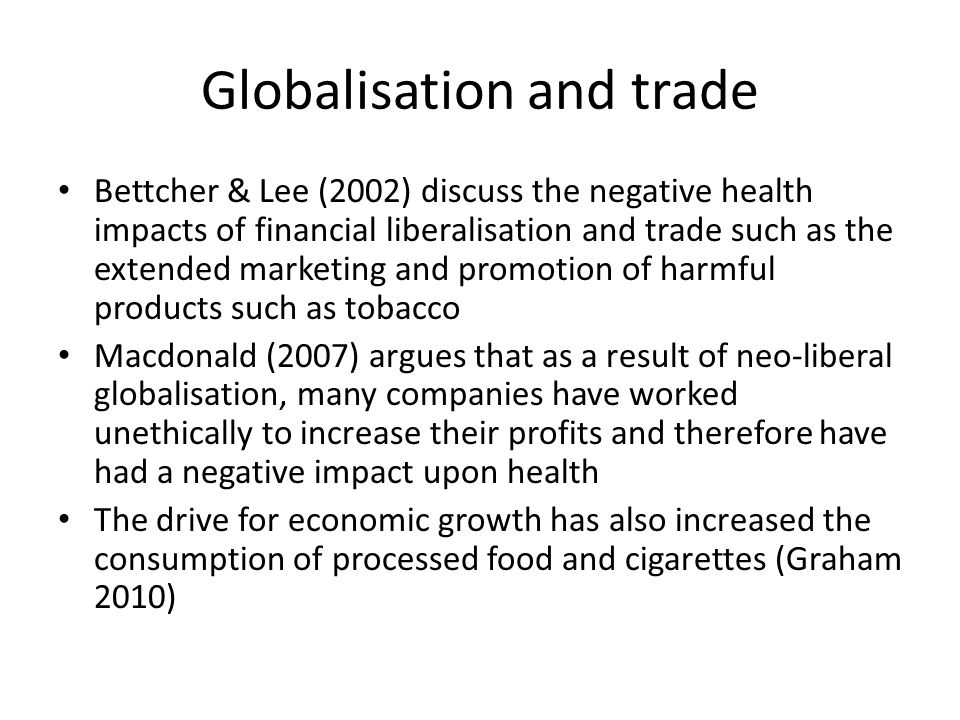 Globalisation and trade
