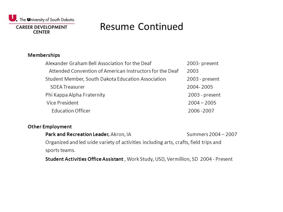Resume Continued Memberships