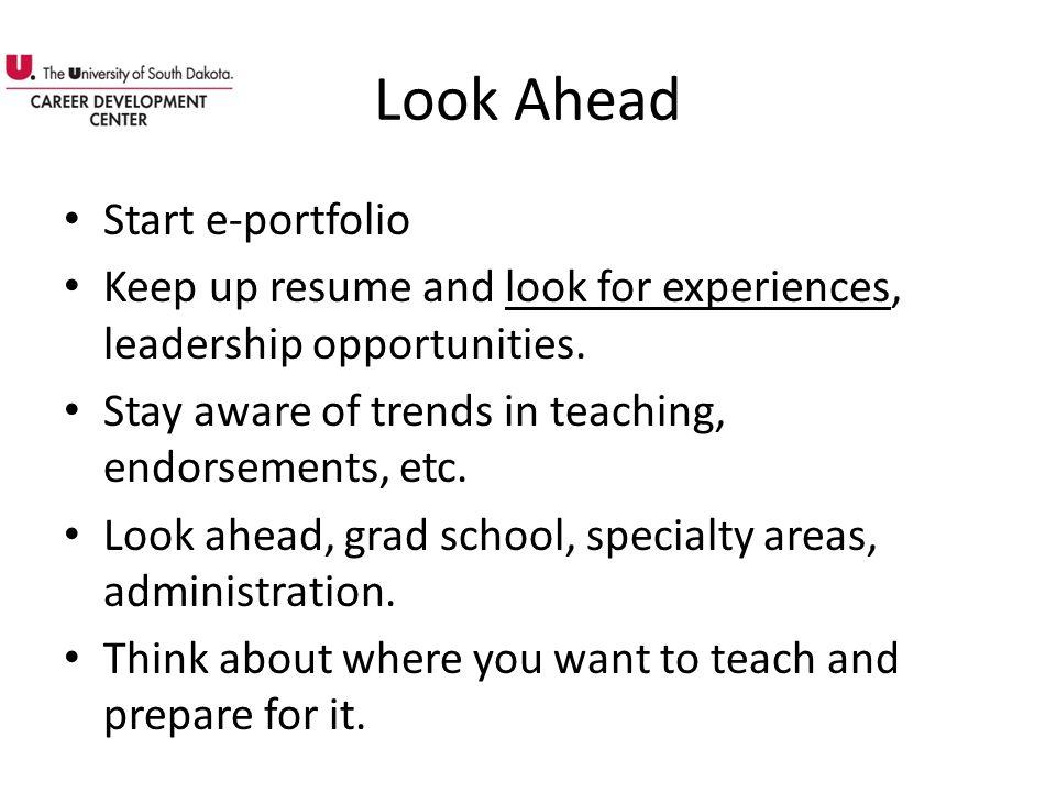 Look Ahead Start e-portfolio