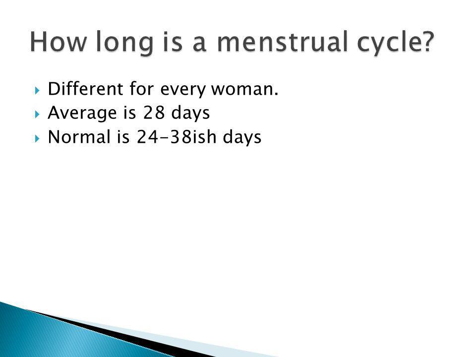 How long is a menstrual cycle