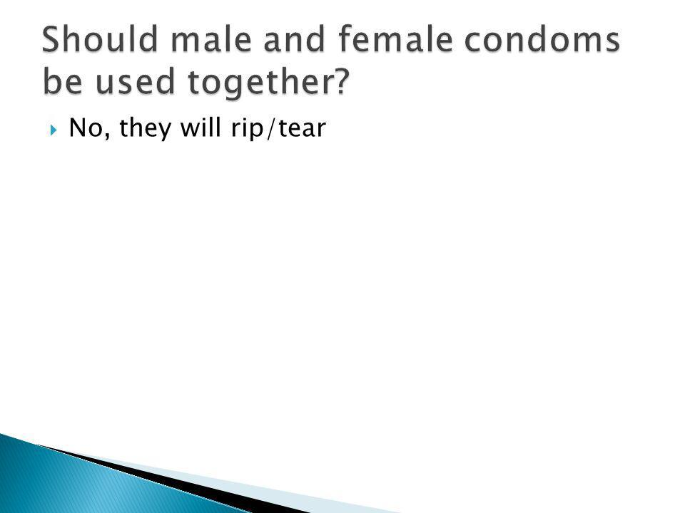 Should male and female condoms be used together