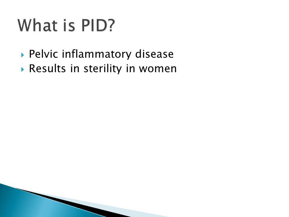 What is PID Pelvic inflammatory disease Results in sterility in women