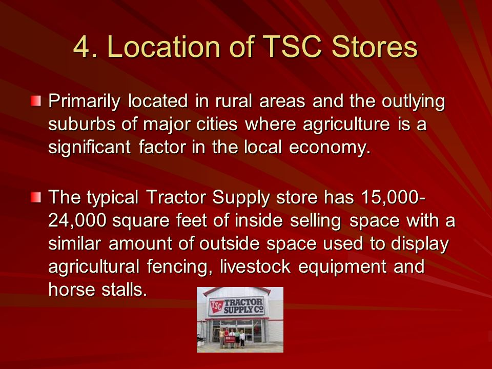 4. Location of TSC Stores