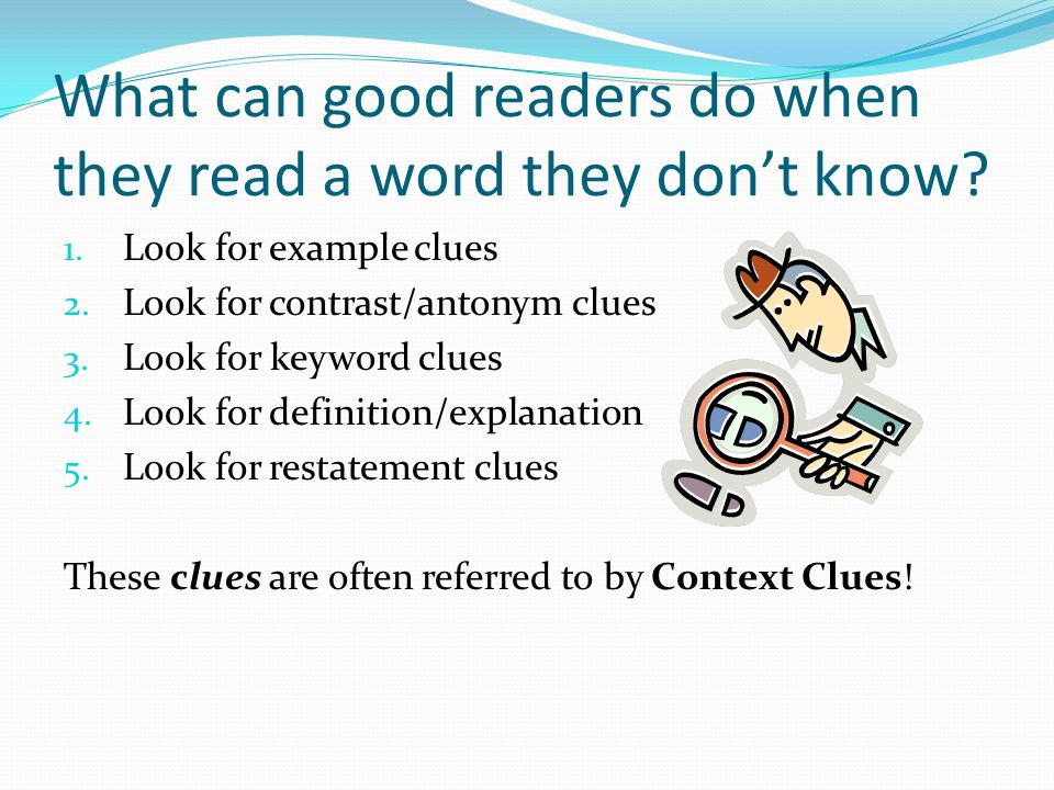 What can good readers do when they read a word they don't know