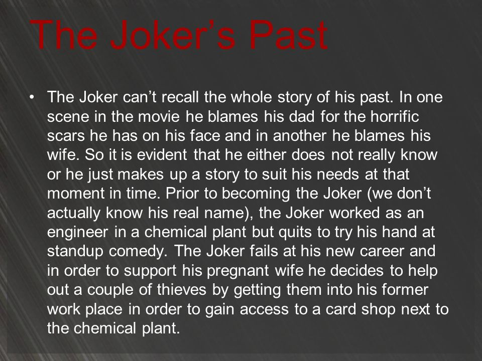 The Joker's Past