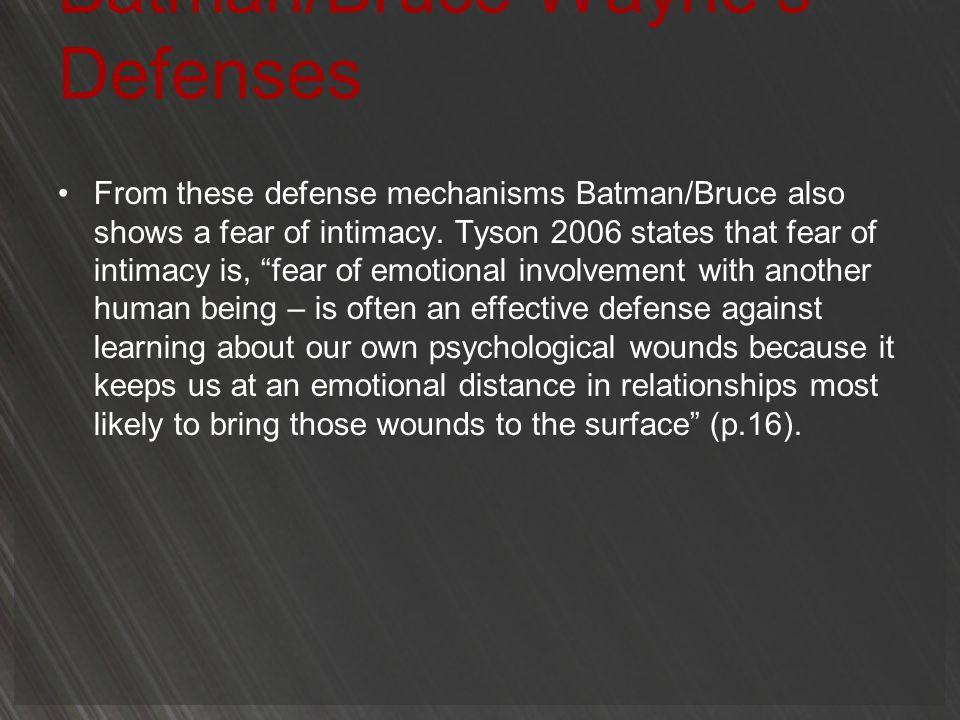 Batman/Bruce Wayne's Defenses