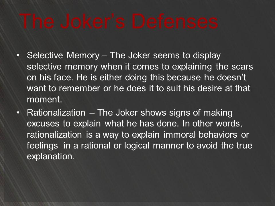 The Joker's Defenses