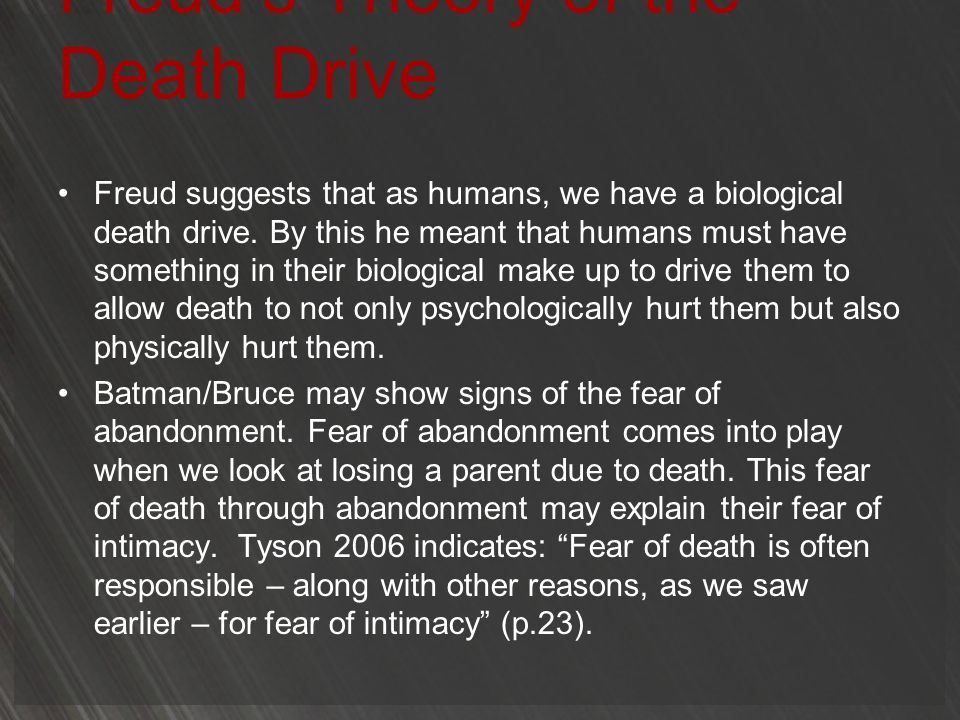 Freud's Theory of the Death Drive