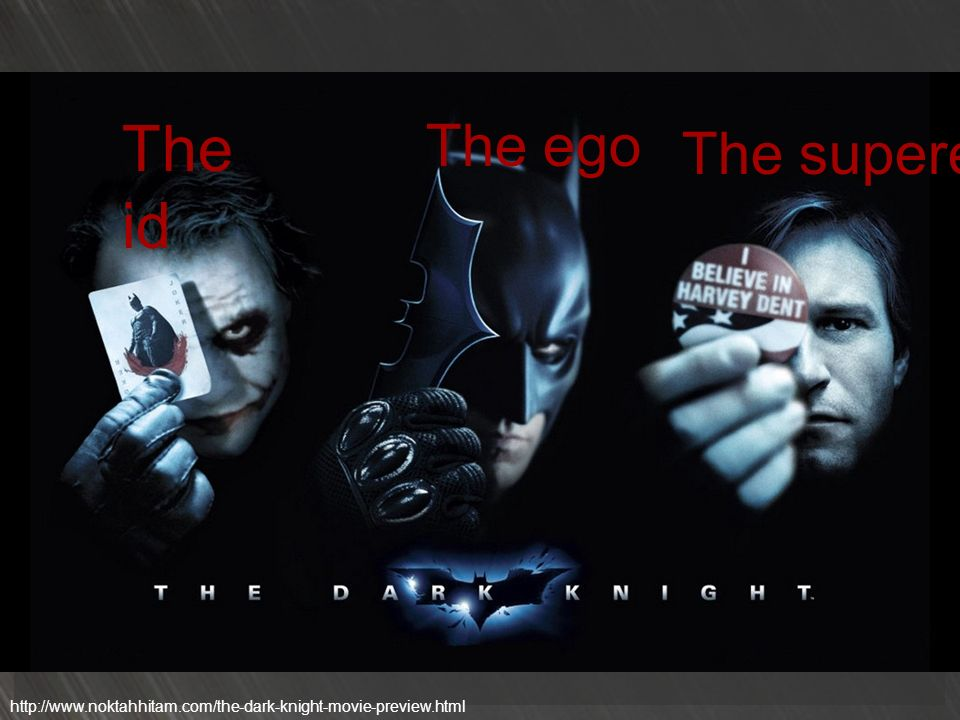 The id The ego The superego