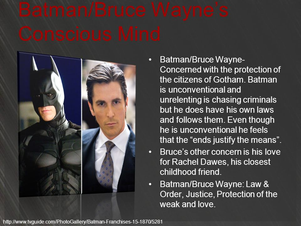 Batman/Bruce Wayne's Conscious Mind