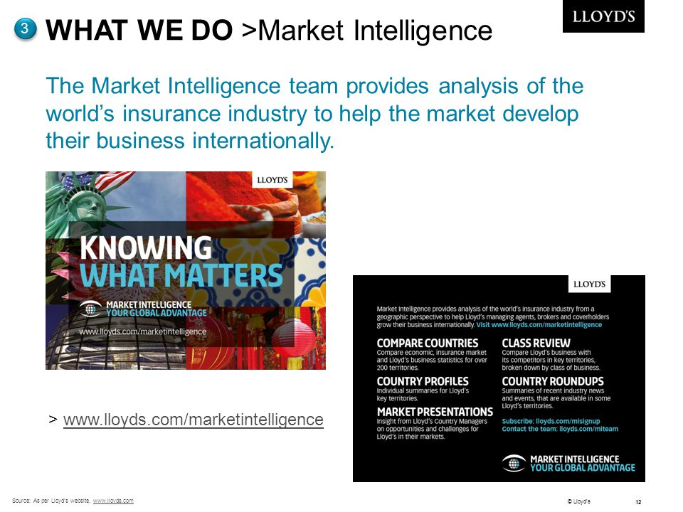 WHAT WE DO >Market Intelligence