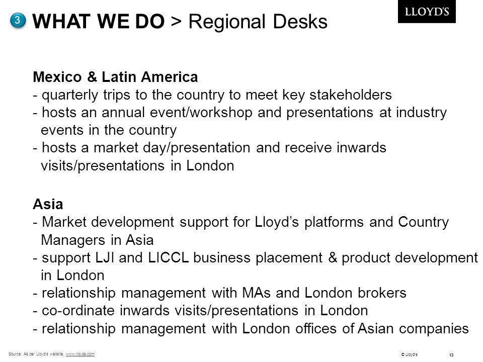 WHAT WE DO > Regional Desks