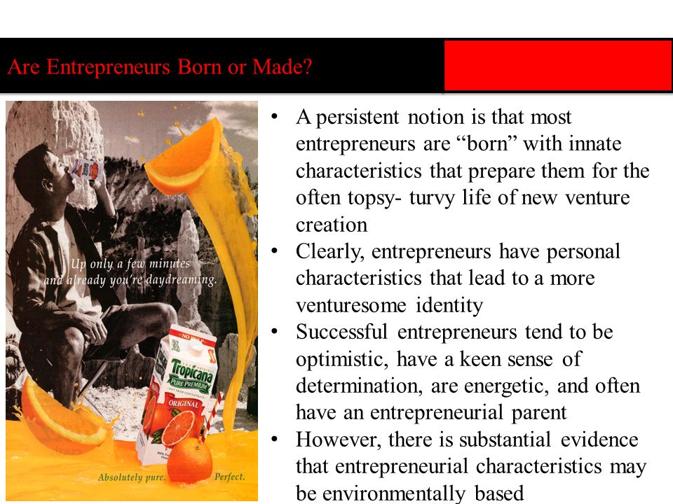 Are Entrepreneurs Born or Made