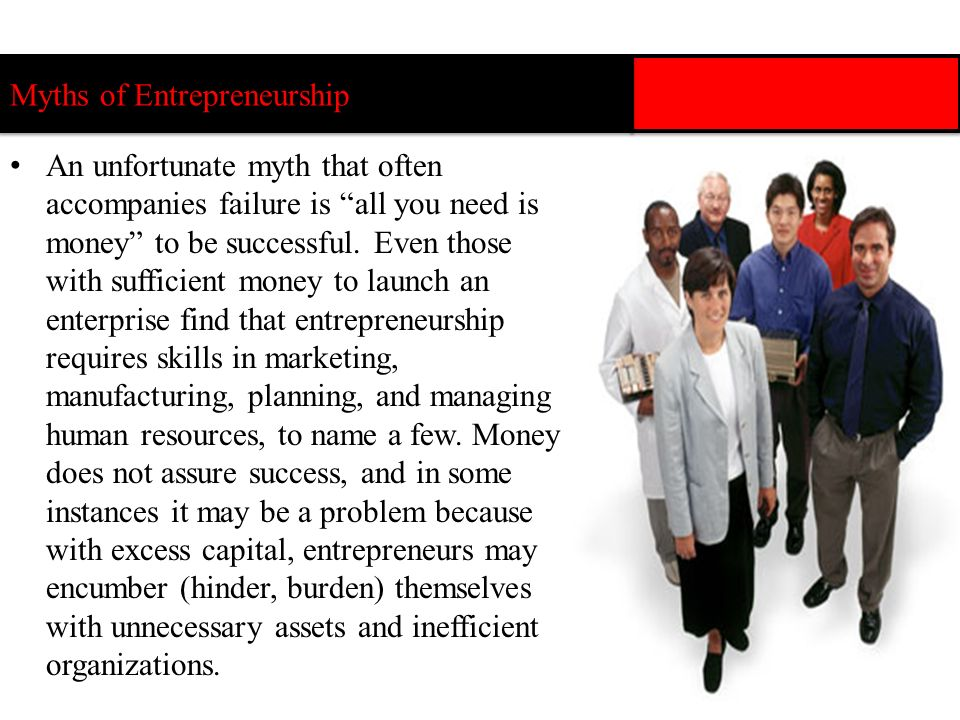 Myths of Entrepreneurship