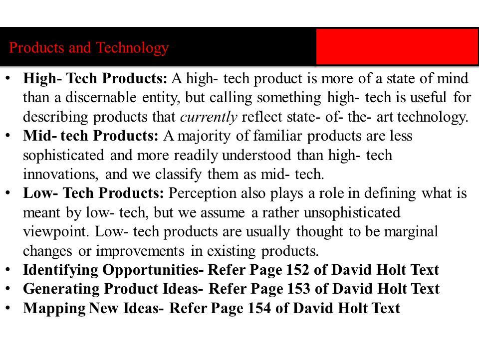 Products and Technology
