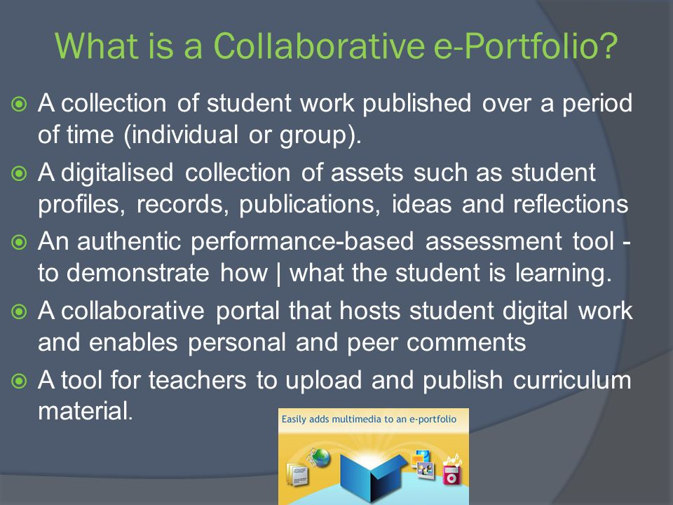 What is a Collaborative e-Portfolio