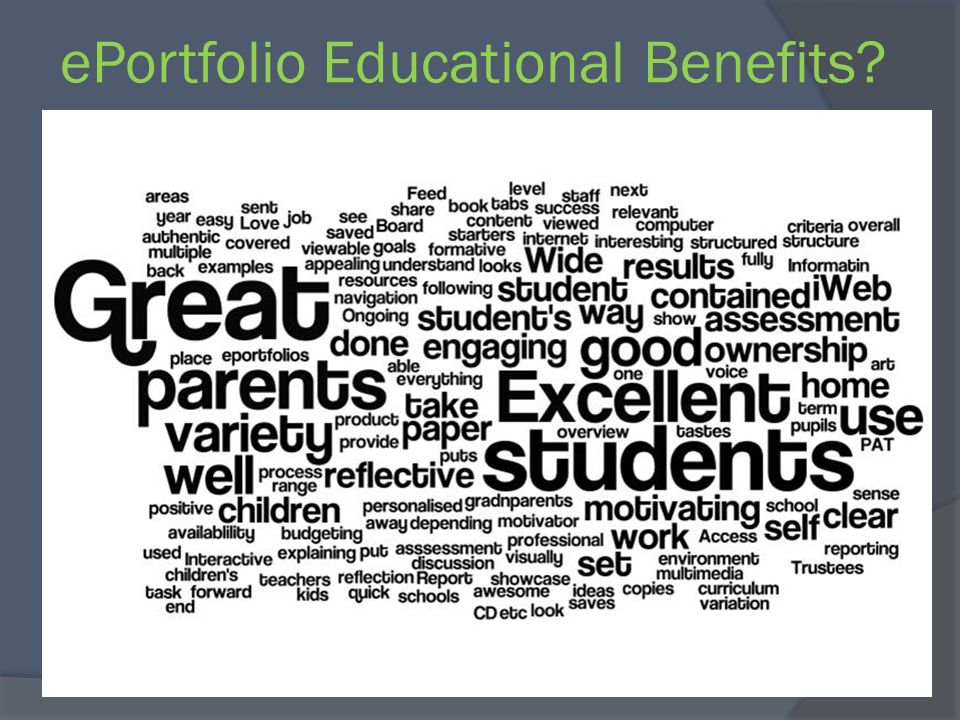 ePortfolio Educational Benefits