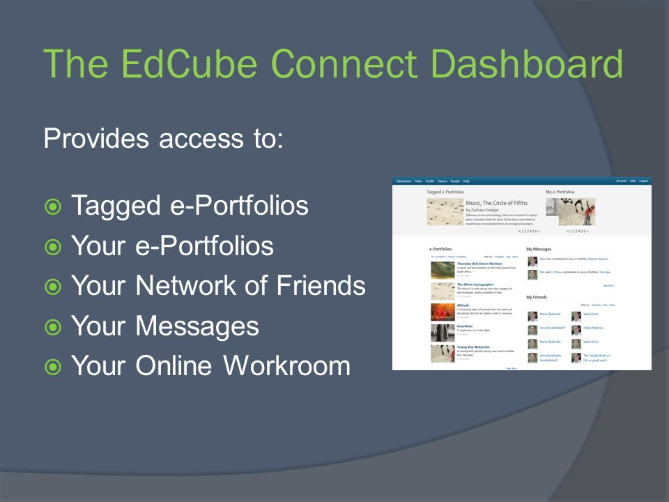 The EdCube Connect Dashboard