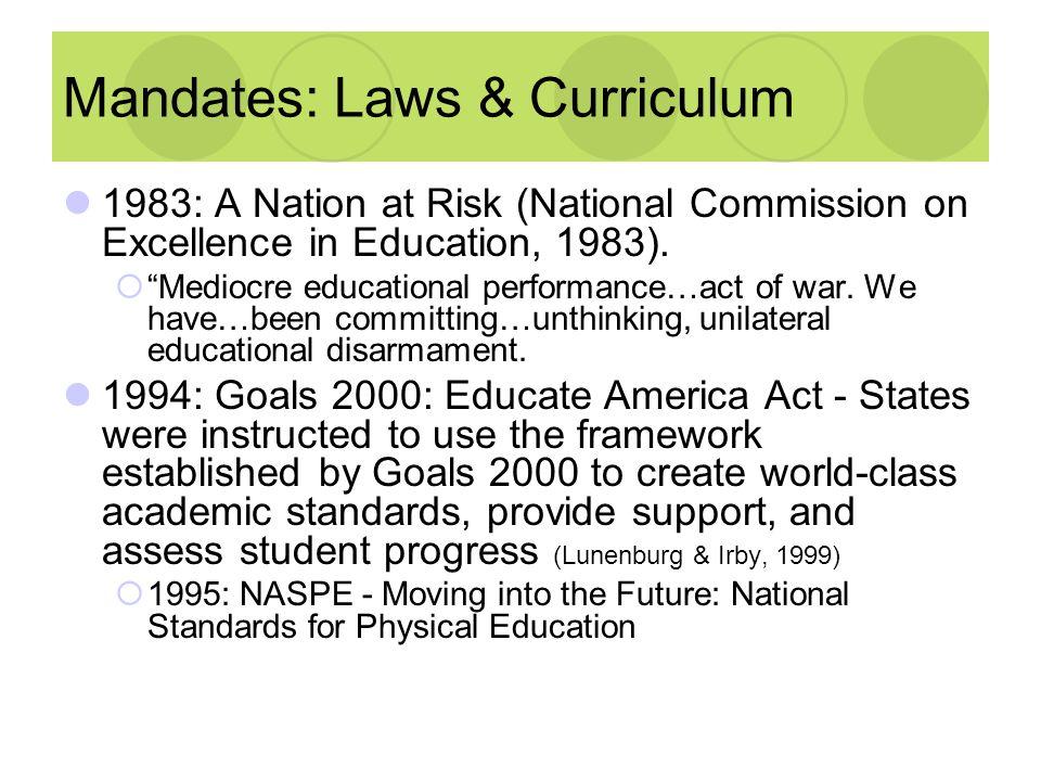 Mandates: Laws & Curriculum